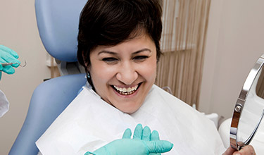 Carrollton dental services woman smiling