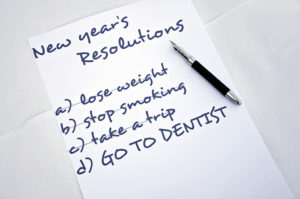 New Year's resolutions list: see dentist!
